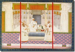 800px-Chitarman_II,_Emperor_Muhammad_Shah_with_four_courtiers,_smoking_huqqah,_ca._1730,_Bodleian_Library,_University_of_Oxford