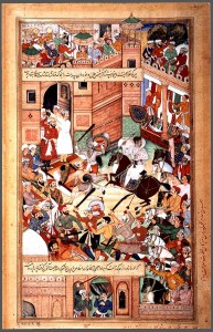 1564-An_Attempt_on_Akbar's_Life-Akbarnama